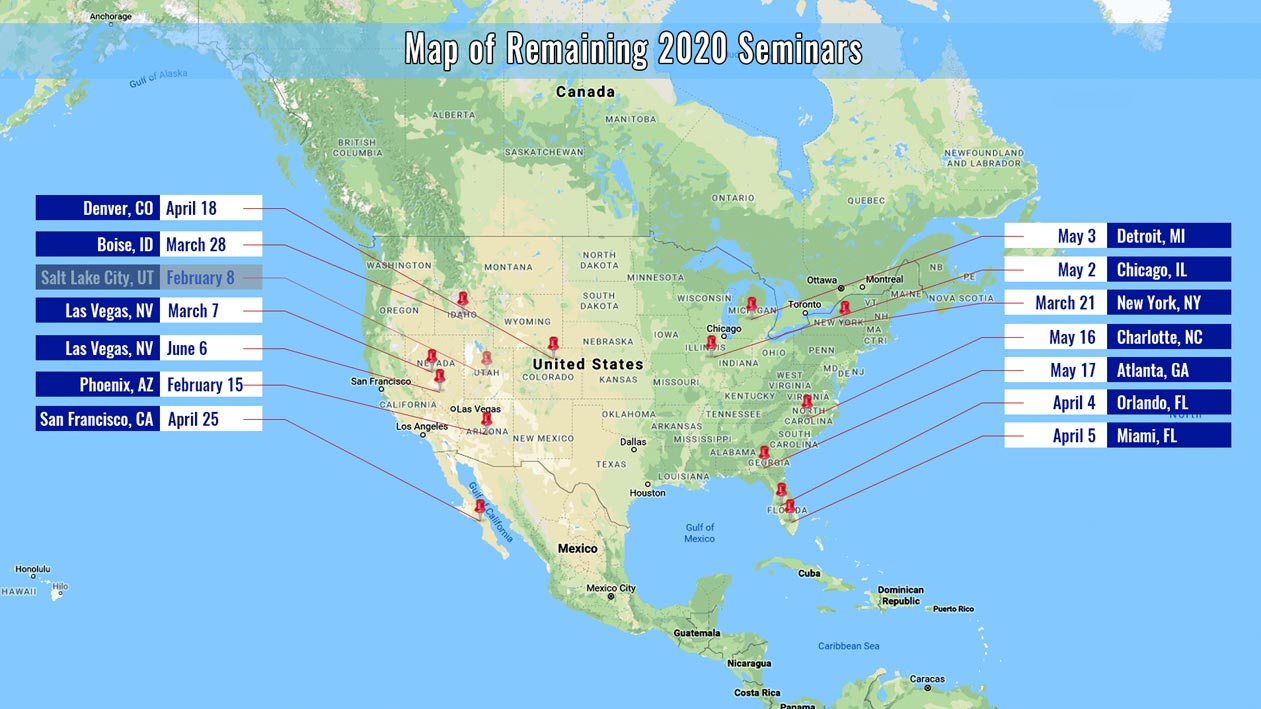 Map to All Seminar Locations